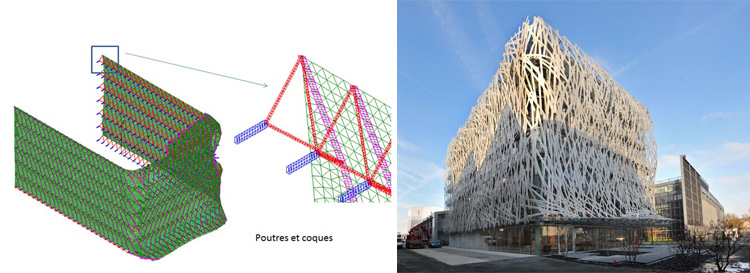 Manny building mesh – Tetrarc architects in Nantes