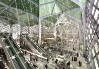 Composite roof design of Jeddah station, H.H.R project Saudi Arabia