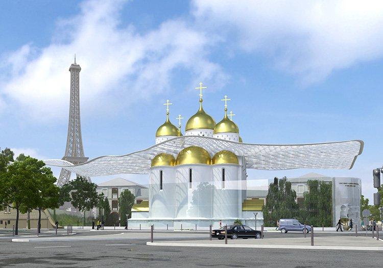 cathédrale Saint-Trinité Russe Paris - Projet Initial